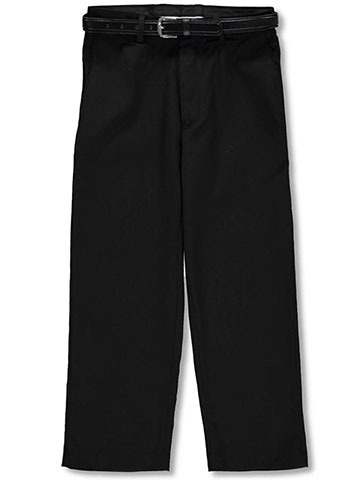 Vittorino Boys' Flat Front Belted Dress Pants - CookiesKids.com