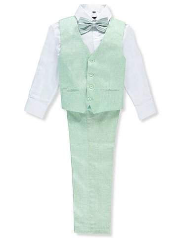 Kids World Boys' 4-Piece Vest Pant Set Outfit - CookiesKids.com