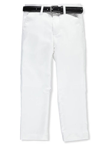 Alberto Danelli Boys' Flat Front Belted Dress Pants - CookiesKids.com
