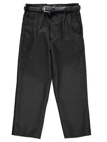 Vittorino Boys' Husky Flat Front Belted Dress Pants - CookiesKids.com