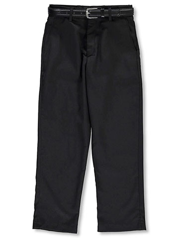 Alberto Danelli Boys' Belted Flat Front Dress Pants - CookiesKids.com