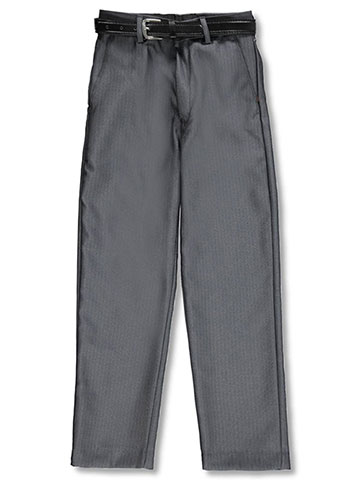 Alberto Danelli Boys' Tailored Belted Flat Front Dress Pants - CookiesKids.com