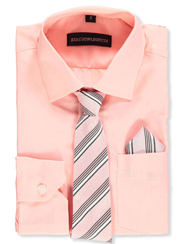Kids World Boys' Dress Shirt with Accessories - CookiesKids.com
