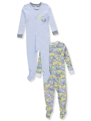 Peas & Carrots Baby Boys' 2-Pack 1-Piece Footed Pajamas - CookiesKids.com