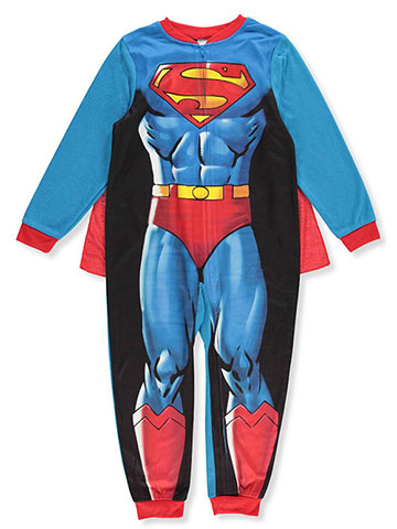Superman Boys' 1-Piece Pajamas with Cape - CookiesKids.com