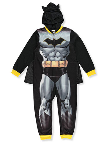 Batman Boys' Hooded 1-Piece Pajamas with Cape - CookiesKids.com