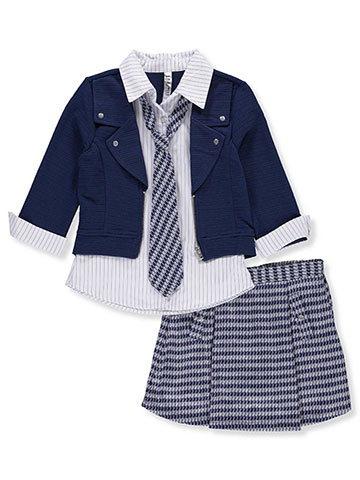 Beautees Girls' 3-Piece Skirt Set with Tie - CookiesKids.com