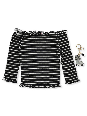 Beautees Girls' Top with Keychain - CookiesKids.com
