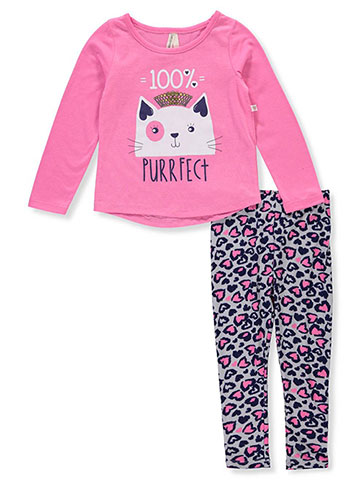 Love At First Sight Girls' 2-Piece Leggings Set Outfit - CookiesKids.com