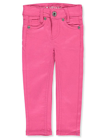 Pink Velvet Baby Girls' Stretch Twill Jeans - CookiesKids.com
