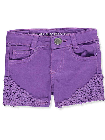 Pink Velvet Baby Girls' Shorts - CookiesKids.com