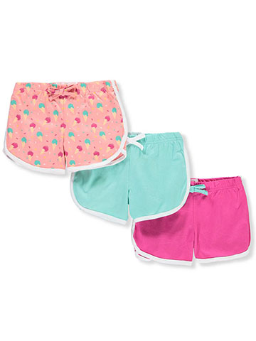 Pink Velvet Girls' 3-Pack Shorts - CookiesKids.com