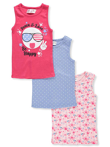 Pink Velvet Girls' 3-Pack Tank Tops - CookiesKids.com