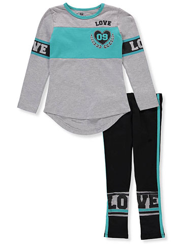 Pink Velvet Girls' 2-Piece Leggings Set Outfit - CookiesKids.com