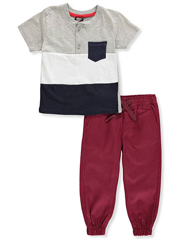 Retro Stitch Boys' 2-Piece Pants Set Outfit - CookiesKids.com