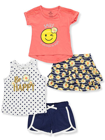 Pink Velvet Girls' 4-Piece Mix-And-Match Set - CookiesKids.com