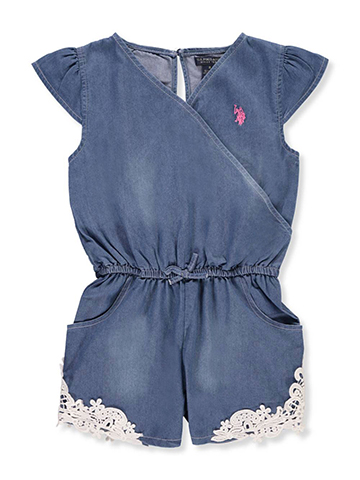 U.S. Polo Assn. Girls' Romper - CookiesKids.com
