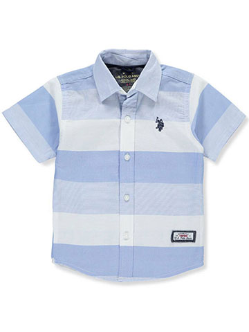 U.S. Polo Assn. Boys' S/S Button-Down Shirt - CookiesKids.com