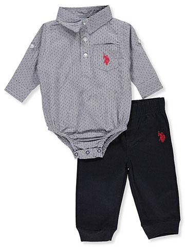 U.S. Polo Assn. Baby Boys' 2-Piece Pants Set Outfit - CookiesKids.com