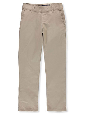 U.S. Polo Assn. Boys' Flat Front Stretch Twill Pants - CookiesKids.com