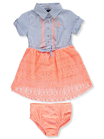 U.S. Polo Assn.  Girls' Dress with Diaper Cover - CookiesKids.com