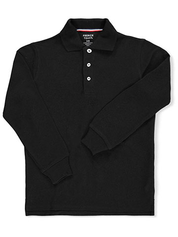French Toast Boys' L/S Pique Polo - CookiesKids.com