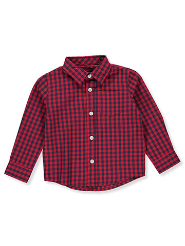 French Toast Baby Boys' L/S Button-Down - CookiesKids.com
