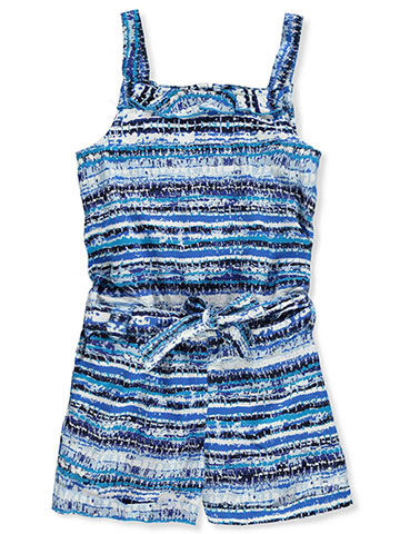 French Toast Girls' Belted Romper - CookiesKids.com
