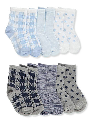 Sock Star Baby Boys' 6-Pack Crew Socks - CookiesKids.com