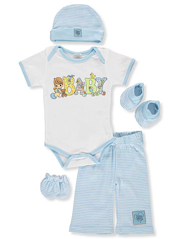 Precious Moments Baby Boys' 5-Piece Layette Gift Set - CookiesKids.com