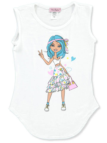 Miss Popular Girls' Sleeveless T-Shirt - CookiesKids.com