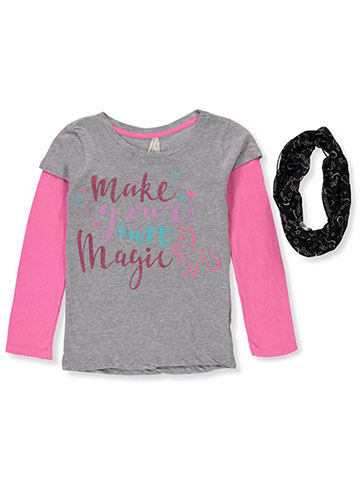 Love At First Sight Girls' Slider Top with Scarf - CookiesKids.com