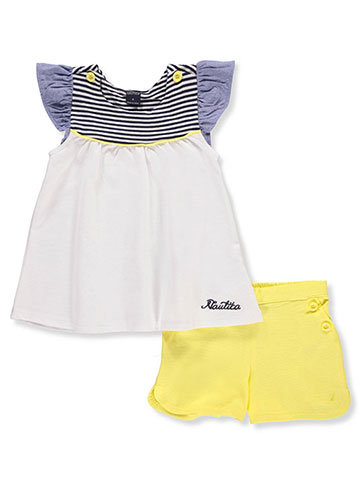 Nautica Girls' 2-Piece Short Set Outfit - CookiesKids.com