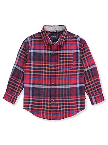Nautica Boys' Flannel Button-Down - CookiesKids.com