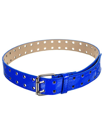 Marilyn Taylor Girls' Double Punch Patent Leather Belt - CookiesKids.com