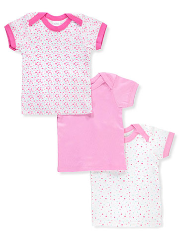 Big Oshi Baby Girls' 3-Pack Lap Shoulder T-Shirts - CookiesKids.com