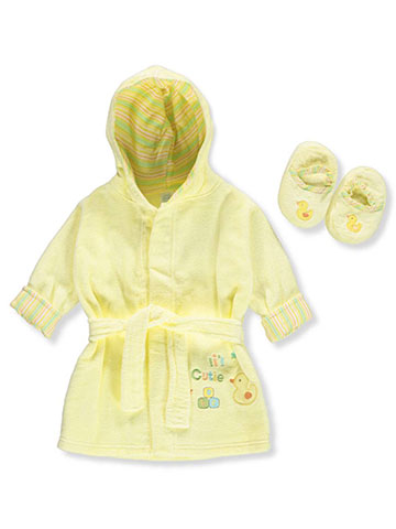 Big Oshi Unisex Baby Bathrobe & Slippers Set - CookiesKids.com