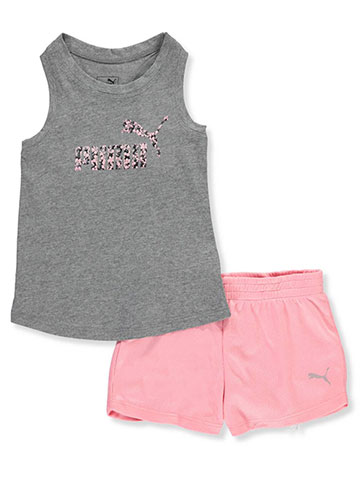 Puma Baby Girls' 2-Piece Short Set Outfit - CookiesKids.com