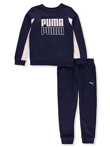 Puma Girls' 2-Piece Sweatsuit Pants Set - CookiesKids.com