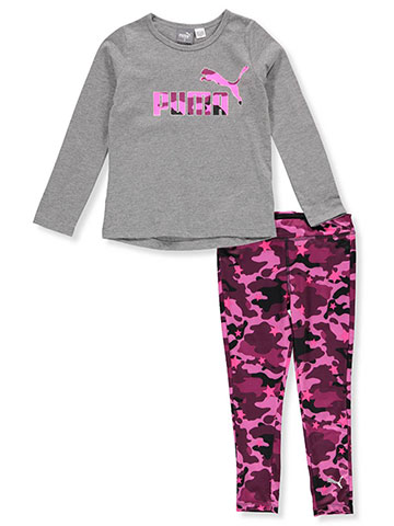 Puma Girls' 2-Piece Leggings Set Outfit - CookiesKids.com