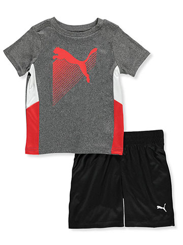 Puma Baby Boys' 2-Piece Performance Shorts Set Outfit - CookiesKids.com