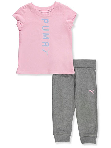 Puma Baby Girls' 2-Piece Pants Set Outfit - CookiesKids.com