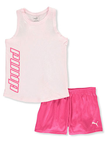 Puma Girls' 2-Piece Shorts Set Outfit - CookiesKids.com