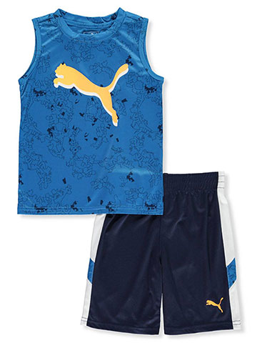 Puma Boys' 2-Piece Shorts Set Outfit - CookiesKids.com