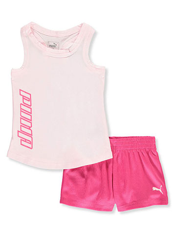 Puma Baby Girls' 2-Piece Shorts Set Outfit - CookiesKids.com