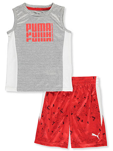 Puma Boys' 2-Piece Performance Shorts Set Outfit - CookiesKids.com