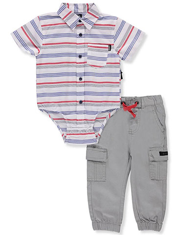 DKNY Baby Boys' 2-Piece Pants Set Outfit - CookiesKids.com
