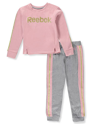 Reebok Girls' 2-Piece Pants Set Outfit - CookiesKids.com