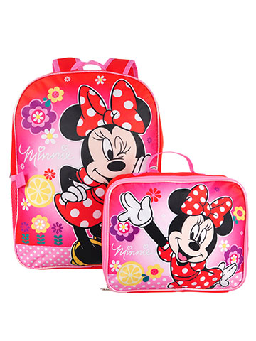 Disney Minnie Mouse Backpack with Insulated Lunchbox - CookiesKids.com