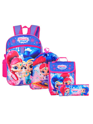 Shimmer and Shine 5-Piece Backpack Set - CookiesKids.com